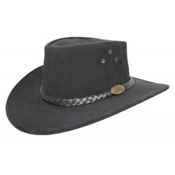 Chapeau Cuir Jacaru Noir