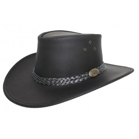 Chapeau Cuir Jacaru Wallaroo Noir