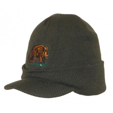 Bonnet casquette chasse Kaki + broderie sanglier ANCIENNES COLLECTIONS divers
