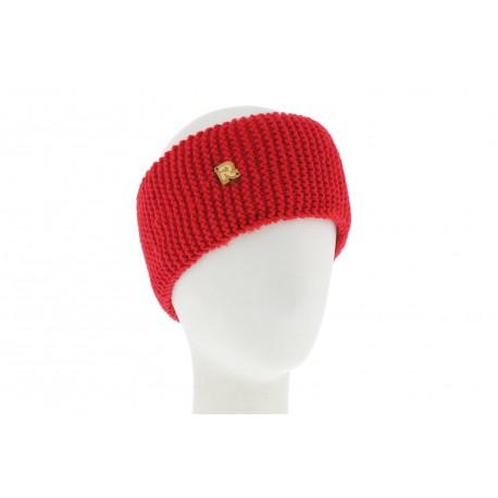 Bandeau Tricot Uni Rouge