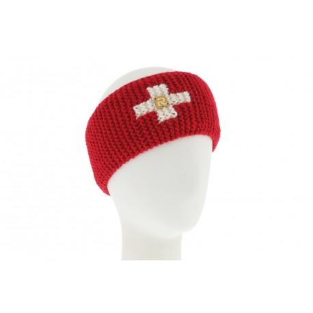 Bandeau Tricot uni + croix Rouge