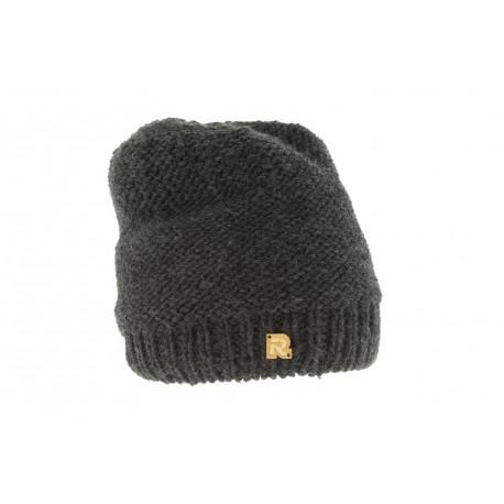 Bonnet Tricot uni doublé plush Noir