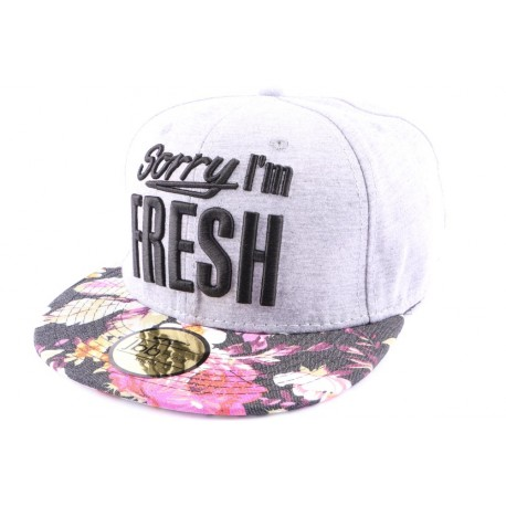 Casquette Snapback JBB Couture Grise Sorry i'm Fresh