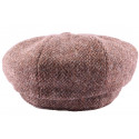 Casquette Gavroche Tweed Marron Chiné