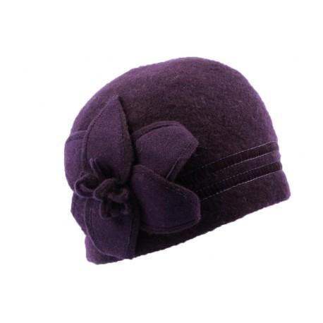 Bonnet Femme laine bouillie Violet