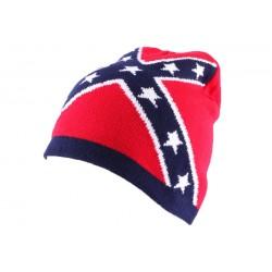 Bonnet Biker Rouge avec drapeau