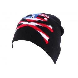 Bonnet Biker Noir avec tête de mort façon US BONNETS divers