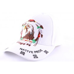 Casquette Biker blanche avec aigle CASQUETTES divers