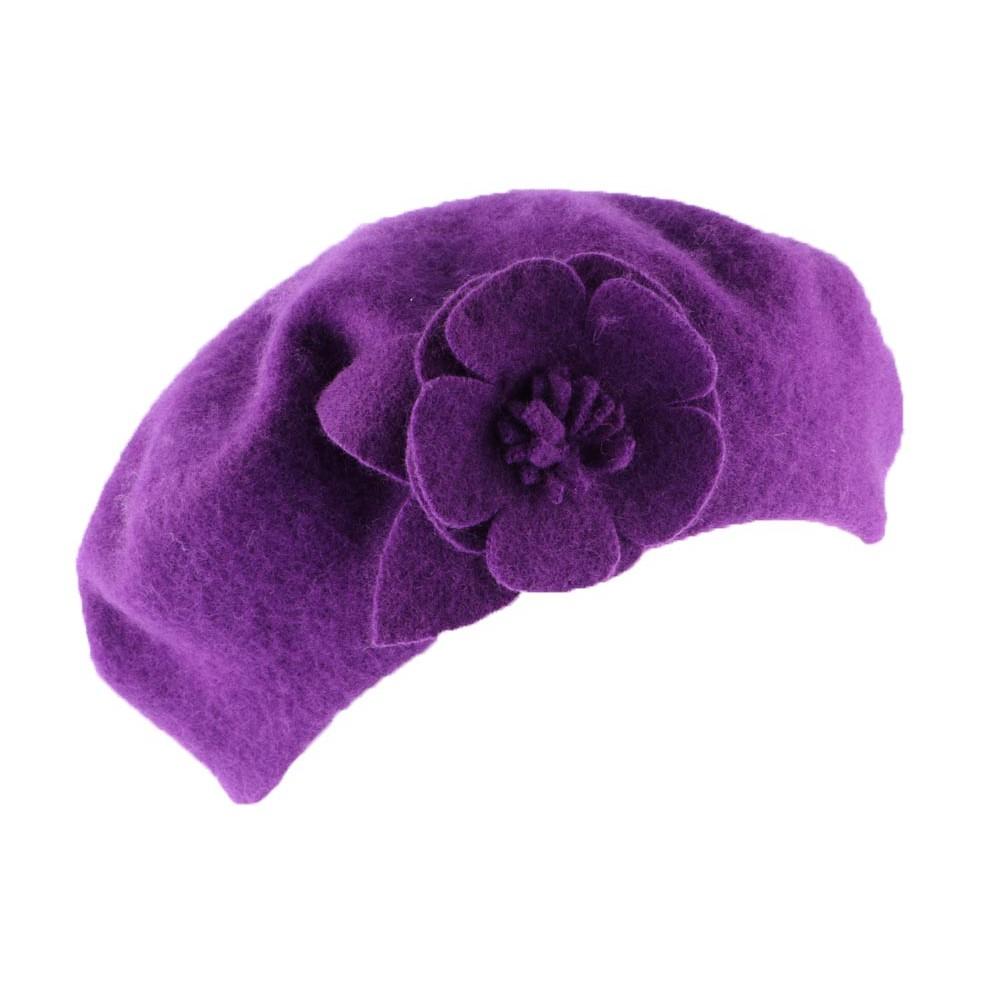 achat b ret violet boutique en ligne hatshowroom. Black Bedroom Furniture Sets. Home Design Ideas