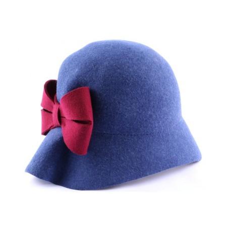 Chapeau Feutre Loli Bleu et rouge