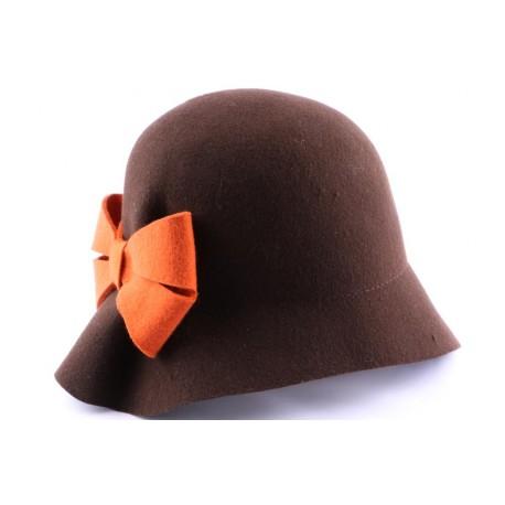 Chapeau Feutre Loli Marron et orange