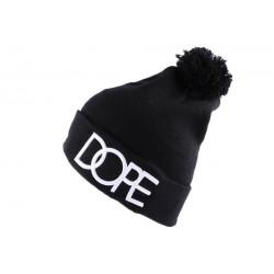 Bonnet à pompon JBB Couture noir Dope avec Revers ANCIENNES COLLECTIONS divers