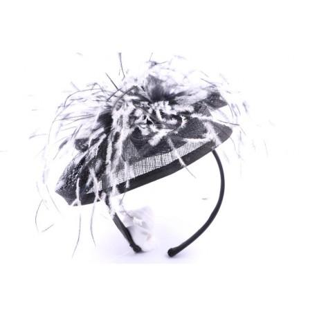 Serre tête Cérémonie Charline en sisal Noir