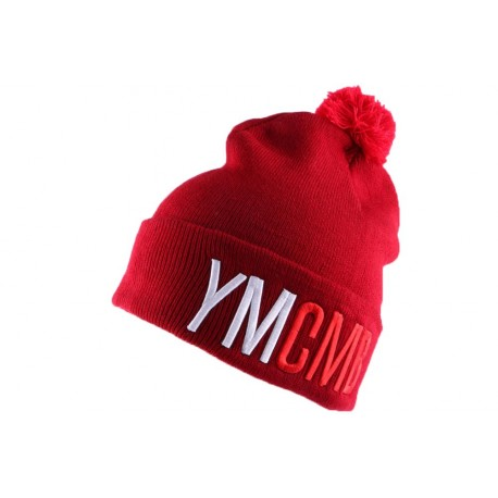 Bonnet YMCMB Bordeaux avec pompon