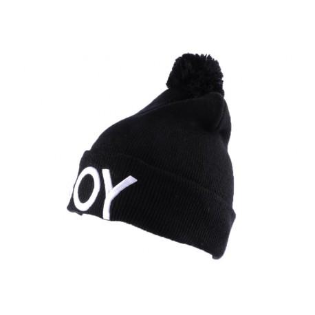 Bonnet Nyls Création Noir BOY avec pompon