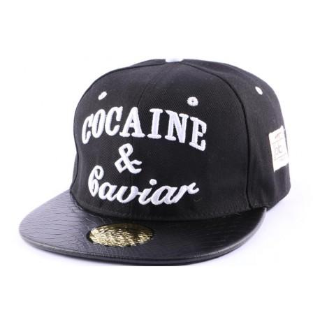 Snapback JBB Couture Noire Cocaine & Caviar