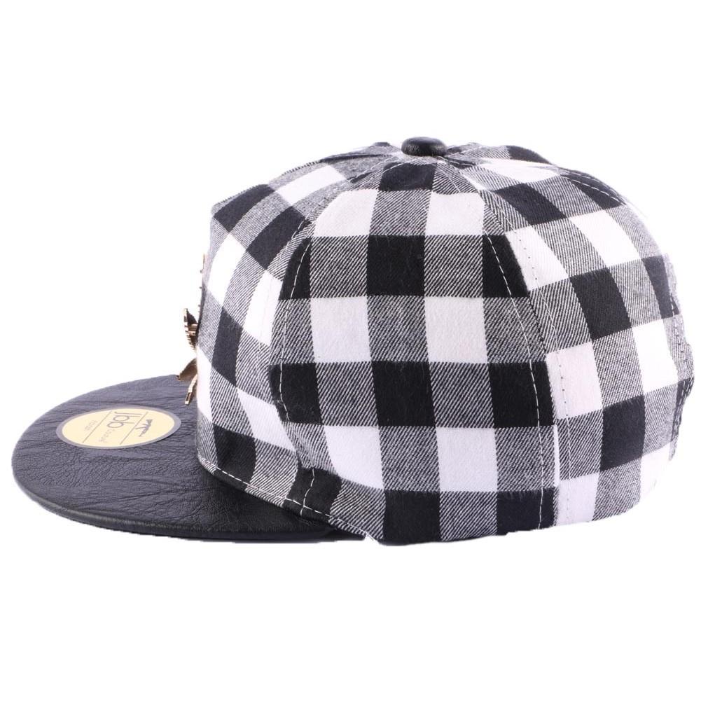 Snapback jbb coutre carreaux boutique headwear for Vans a carreaux noir et blanc
