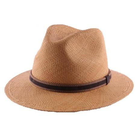 Chapeau Panama Lester en coloris Tabac