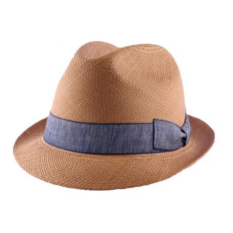 Chapeau Panama Andy en coloris Tabac