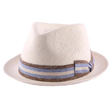 Chapeau Panama Archie en coloris Ecru