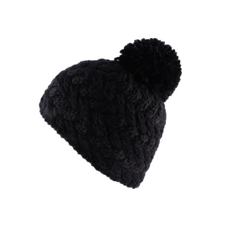 Bonnet à pompon Iceberg Noir