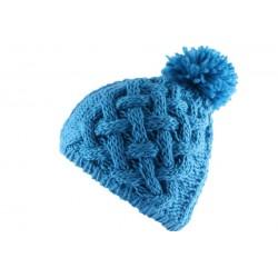Bonnet à pompon Serac Bleu électrique