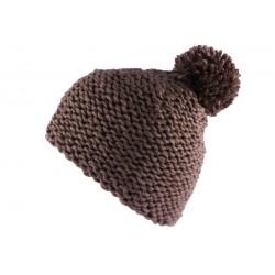 Bonnet à pompon Artic Taupe