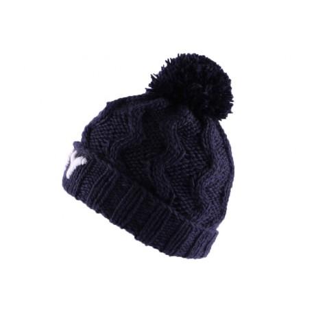 Bonnet à Pompon Winter NY bleu marine