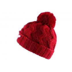 Bonnet à Pompon Winter NY Rouge BONNETS Léon montane