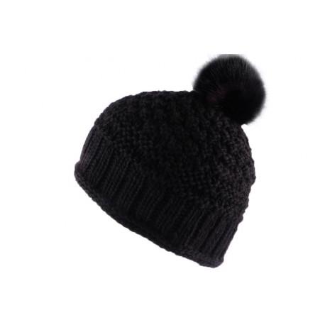 Bonnet à pompon Fria Noir