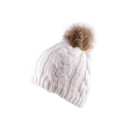 Bonnet Nyls Création Blanc avec pompon