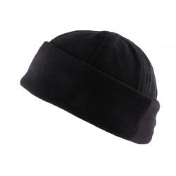 Bonnet Docker Noir en tissu polaire BONNETS divers