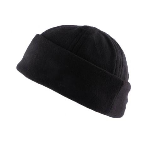 Bonnet Docker Noir en tissu polaire BONNETS Nyls Création