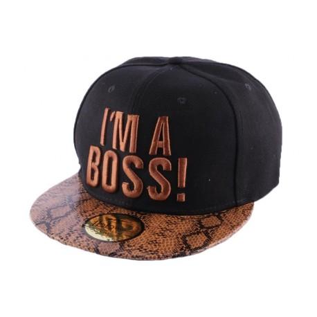 Snapback JBB Couture i'm a Boss noir et rouge