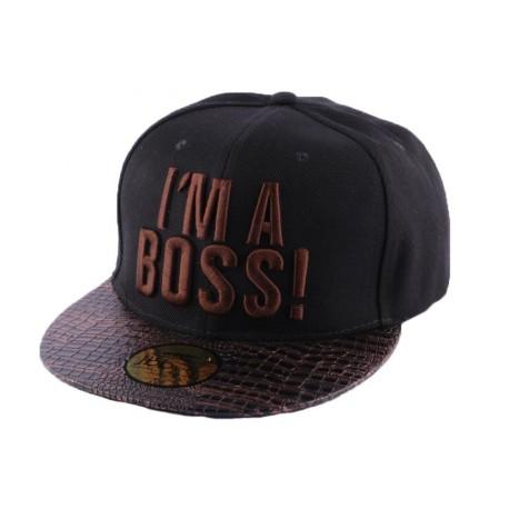 Snapback JBB Couture I'm a Boss noire/marron