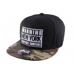 Snapback Warning New York Noire et Camo