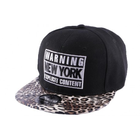 Snapback Warning New York Noire et Leopard