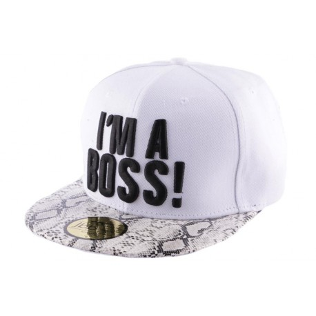 Snapback JBB Couture I'm a Boss blanche