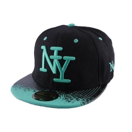 Snapback NY Noire et grise Tag
