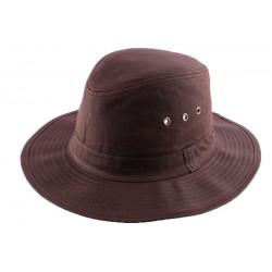 Chapeau Huilé Marron type Brousse