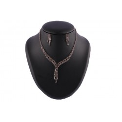 Collier Josephine en Strass Marron