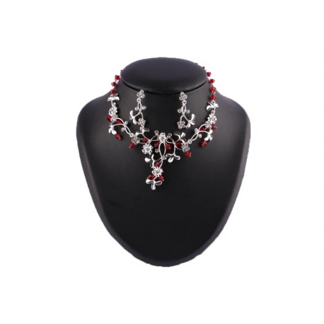 Collier Catherina Perles Bordeaux