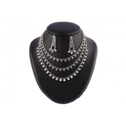 Collier 3 rangs strass cristal Callas