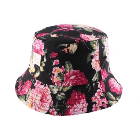 Bob JBB Couture Florale noire et rose