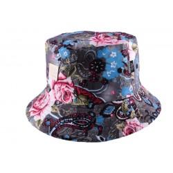 Bob JBB Couture Florale Gris bleu Rose
