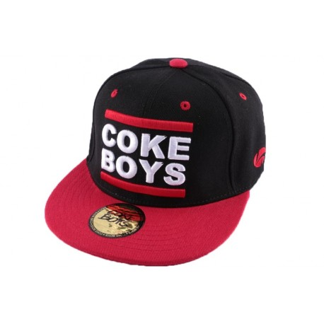 Snapback Coke Boys Noire et Rouge