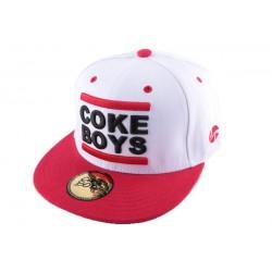 Snapback Coke Boys Rouge et Noire CASQUETTES COKE BOYS