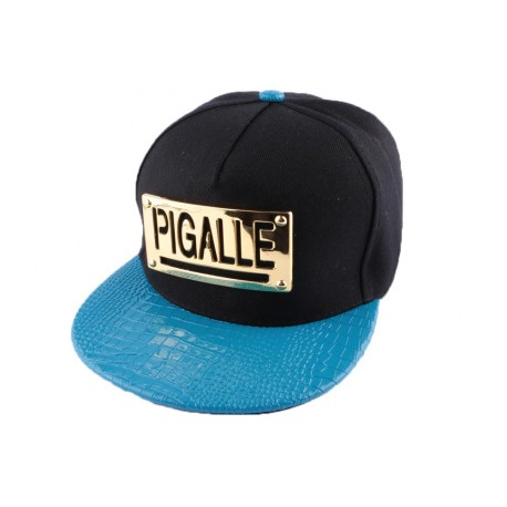 Snapback Pigalle Noire et bleu