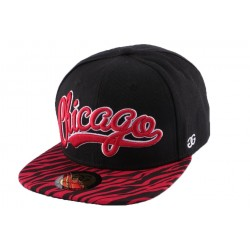 Snapback Coke Boys Chicago visière zèbre Rouge CASQUETTES COKE BOYS