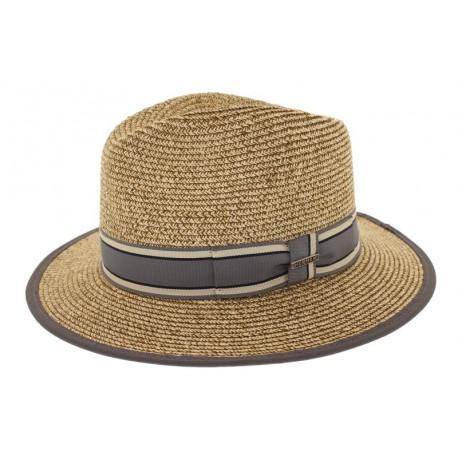 Chapeau de paille Edwardo naturel/gris